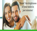 A smiling couple showing how teeth whitening brightens your smile