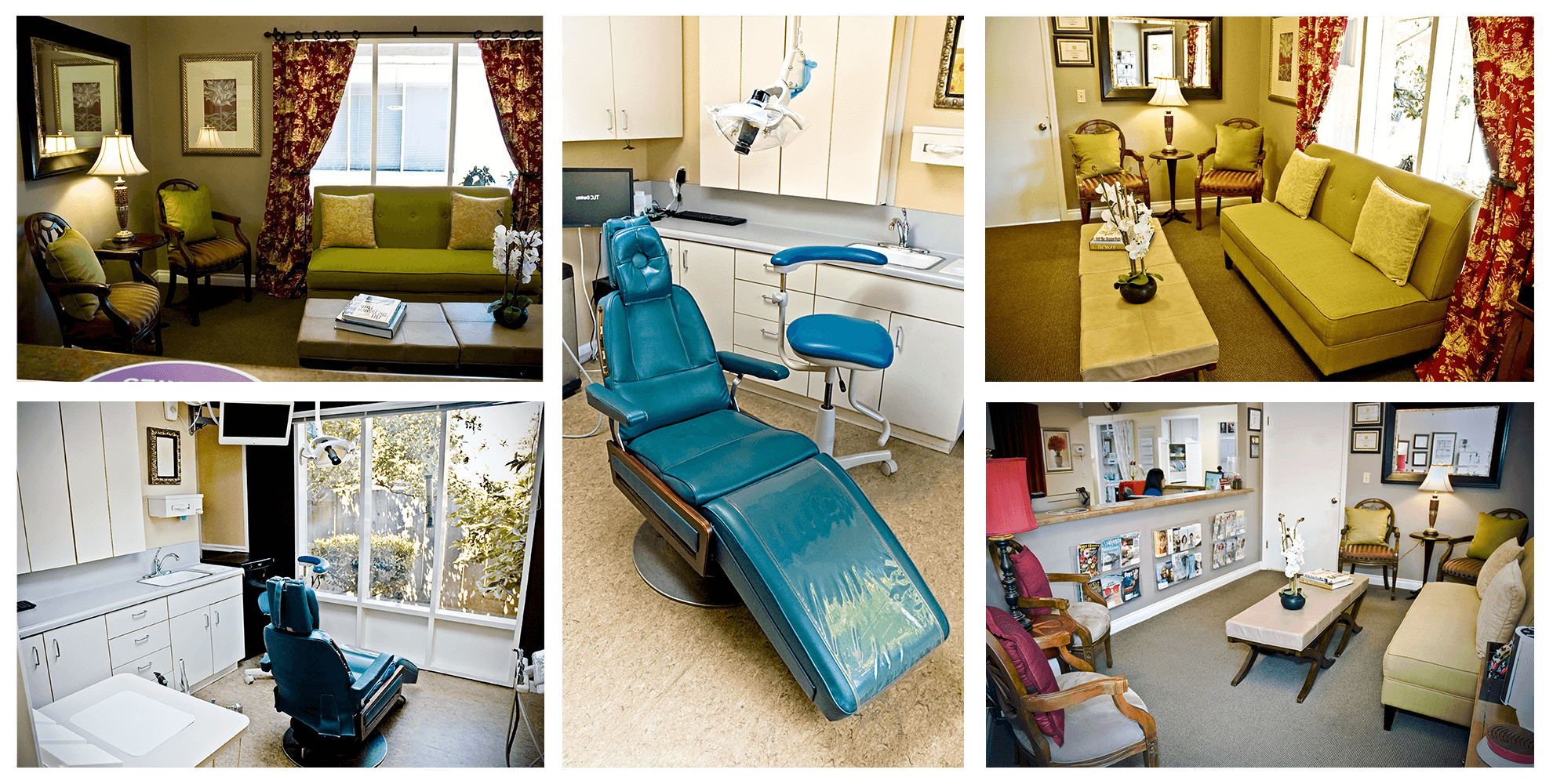 Collage of TLC Dentistry office photos