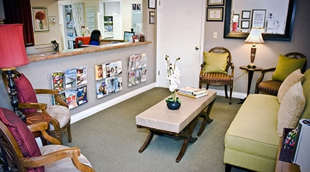 The waiting room of TLC Dentistry in Salinas CA