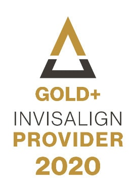 Gold+ Invisalign Provider 2020 Badge